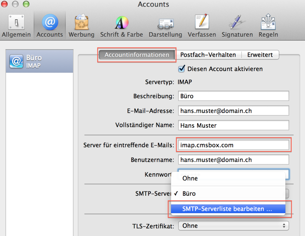 cmsbox HELP - imap Apple Mail